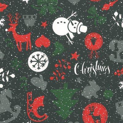 Cadeaupapier Kerst Silver 70cm