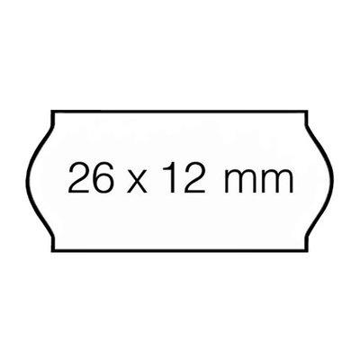 Etiket 26x12 golf wit afn. ts 36 rl/ds